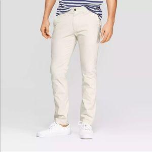 NWT Goodfellow Hennepin Chino Khaki Slim Fit Pants